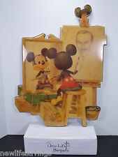 "RARE Mickey drawing Walt Disney art work 24""X17"" Wood, MFG 1992 Gallery 92 Inc"