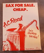 A.C Reed 1980s Sax for Sale Cheap Alligator LP PROMO Chicogo Soul Blues Poster G