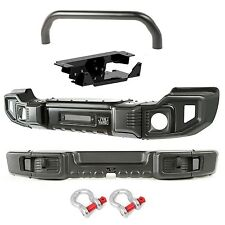 Rugged Ridge F&R Spartacus Bumpers w/ Over Rider & Winch Plate 07-16 Jeep JK JKU
