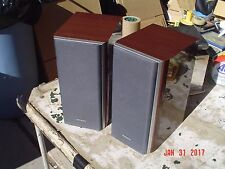 Aiwa SX-LM99 2-Way Dual Woofer Mini Tower Bookshelf Stereo Speakers