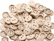 "100 ""Handmade with love"" Wood Buttons - Scrapbooking - Crafting - Sewing UK"