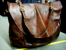 VTG  Rare USPS US Leather Mail Postal Carrier Messenger Briefcase Bag XL