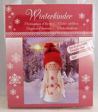 """Kit créatif -1 figurine """"Personnages d'hiver - """"fille"""" à habiller - Glorex"""