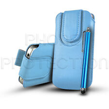 MAGNET PU LEATHER PULL TAB CASE COVER POUCH HOLSTER & STYLUS FOR VARIOUS PHONES
