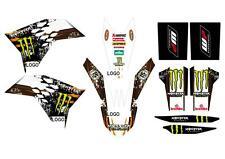 KIT GRAFICHE ADESIVI MONSTER ADATTABILE KTM EXC 08 011 SX 07 10 BIANCO