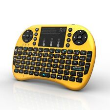 Rii i8+ gold wireless keyboard with BACKLIT for Raspberry Pi TV BOX PC