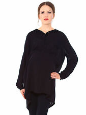 Vogue Pregnant Women Long Sleeve Shirt Tops Maternity Casual Black Dress