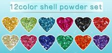CRUSHED SHELL POWDER KIT For Acrylic or Gel Nail Art