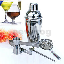 5x Stainless Steel Cocktail Shaker Mixer Drink Bartender Kit Bars Set Tools 3#A