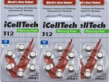 126x IcellTech tipo 312 DS pilas para audífonos pilas para audífonos hasta 2020