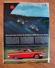1964 Mercury Comet Ad  Drove Day & Night for 100,000 Miles at over 105 MPH