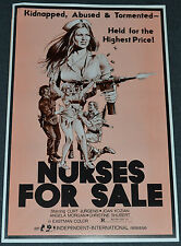 NURSES FOR SALE 1976 ORIG. 11x17 MOVIE POSTER/PRESSBOOK! EXPLOITATION CLASSIC!
