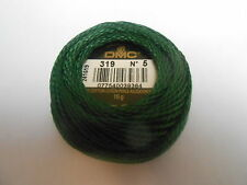 "DMC Perle 5 Cotton 10g Ball Green ""319"""