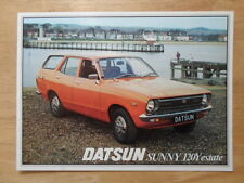 DATSUN SUNNY 120Y ESTATE orig 1978 UK Mkt Sales Leaflet Brochure - Nissan