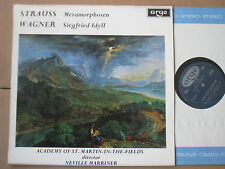 STRAUSS METAMORPHOSEN WAGNER ST MARTIN IN THE FIELDS MARRINER ARGO ZRG 604 OVAL