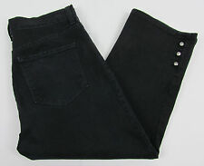 Womens NYDJ Not Your Daughters jeans Cropped Capri pants Lift Tuck Rhinestones 8