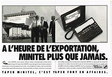 Publicité Advertising 1988 (2 pages) France Telecom Le Minitel