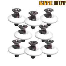 8 Kite Board M6 Fin Screws & White Washers, kitesurf, Twintip, Wakeboard Kitehut