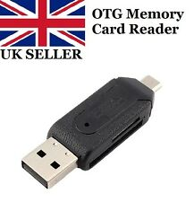Memory Card Reader Micro USB OTG to USB 2.0 Adapter SD/Micro SD Card - UK Seller