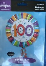 Age 100 Birthday Foil Holographic Balloon - 45cm Round  - Century