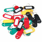 24X KEY TAGS PLASTIC ASSORTED KEY RINGS COLOURED PLASTIC ID TAGS NAME LABEL FOB