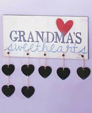Grandma's Sweathearts Wall Plaque Sign With Seven Name Tag Hearts Grandchildren