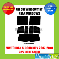 VW TOURAN 5-DOOR MPV 2007-2010 35% LIGHT REAR PRE CUT WINDOW TINT