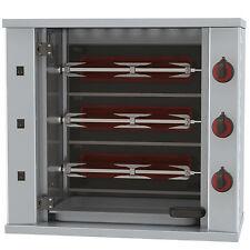 Gastronomie Gas Hähnchengrill Maschine mit Beleuchtung, 3 Spieß für 9 Hähnchen