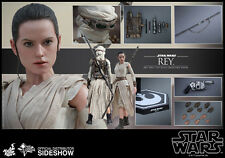 "Sideshow Hot Toys 1/6 Scale 12"" Star Wars The Force Awakens Rey Figure #MSS336"