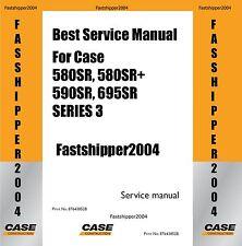 Case 580sr 590sr 695sr Series 3 Loader Backhoe Service Manual FAST Get OnTime CD