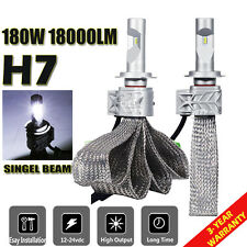 2x H7 180W 18000LM Philips LED Headlight Kit Low Beam Head Light Bulbs 6500K