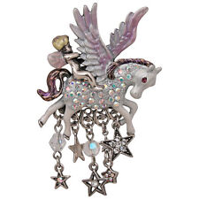 NEW KIRKS FOLLY ANGEL RIDER PEGASUS PONY PIN PENDANT ENHANCER  ST