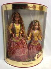 Rare Vintage 1999 ALeo/Mattel India Barbie and baby sister special edition