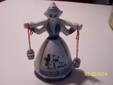 Vintage Dutch girl figurine with water cans