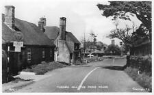 The Cross Roads Turners Hill Nr Crawley East Grinstead RP old pc used 1956 Frith