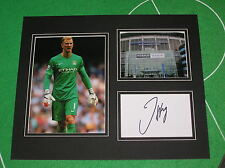 Joe Hart Signed Manchester City FC Mount