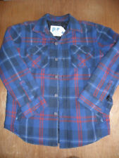 "BNWT Aeropostale p.s. blue/red plaid padded quilited cotton short, 40"" chest."