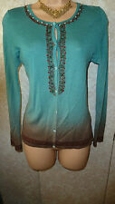 GORGEOUS DESIGNER ROBERTO CAVALI  CASHMERE MIX CARDIGAN SIZE  US10/ UK 12