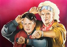Back To The Future Original Pencil Drawing. Fan-ART A4 Marty McFly Michael J Fox