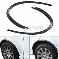2Pcs Black Body Kits Carbon Fender Flare Wheel Eyebrow Sticker For Universal Car