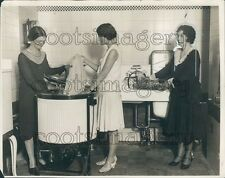 1930 Women w Vintage Electric Washing Machine & Dishwasher Press Photo