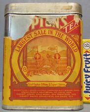AUTHENTIC OLD LIPTON TEA TIN 1/2 LB SIZE, PAPER LABEL, FREE SHIP * SALE *  AD717