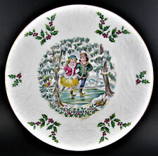"VINTAGE  ROYAL DOULTON BONE CHINA 1977 CHRISTMAS 8"" PLATE MADE IN ENGLAND  (W2-4"