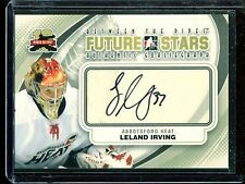 2011-12 ITG Between the Pipes Goaliegraph Autograph #A-LI   Leland Irving