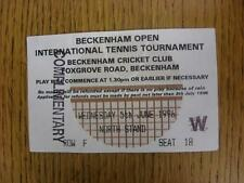 05/06/1996 tennis ticket: Beckenham ouvert tournoi international [à Beckenham