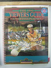The 1992 Viewer's Guide to Professional Golf with graphics by golfax, vol.1, #1
