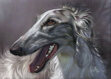 Dog Art Borzoi Barsoi Windhund Fine Art Print Kunstdruck  by Christina Schulte
