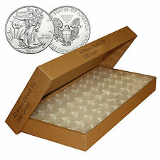 25 GENUINE AIRTITE COIN CAPSULE HOLDERS FOR AMERICAN SILVER EAGLE DOLLAR H