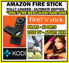 Ultimate Amazon Fire TV Stick Fully Loaded  KODI 16 Movies TV Sports Adult kids