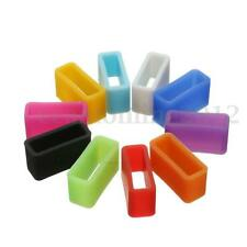 10Pcs Silicone Security Band Clasp Ring Loop Keeper Fastener For Fitbit Alta